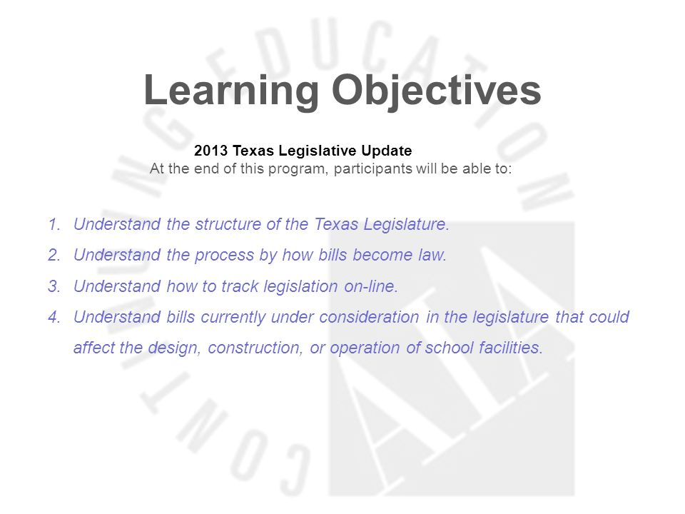 2013 Texas Legislative Update