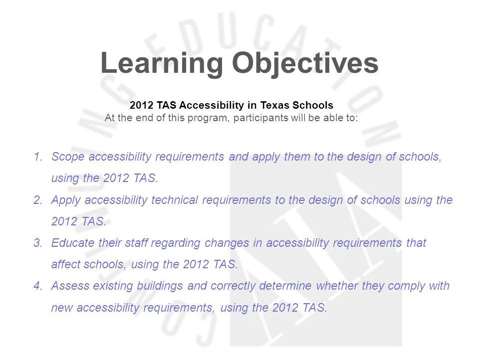2012 TAS Accessibility in Texas Schools