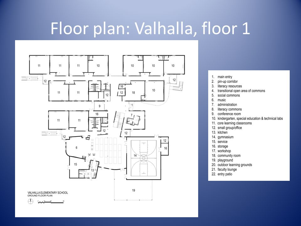 Floor plan: Valhalla, floor 1
