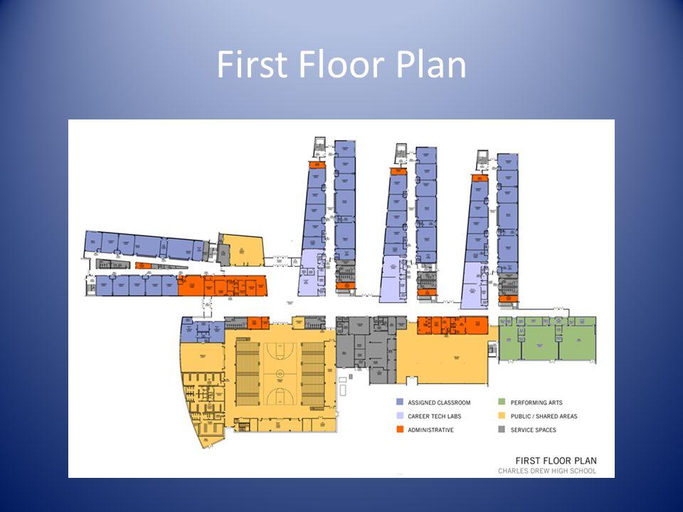 First Floor Plan Insert large format floor plan