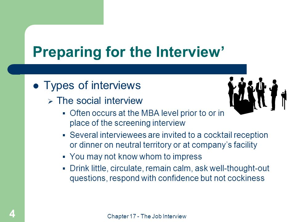 being well prepared for an interview