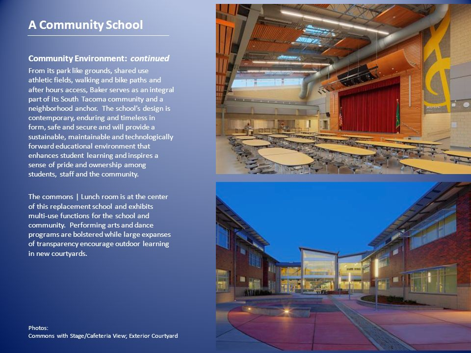 A Community School Community Environment: continued