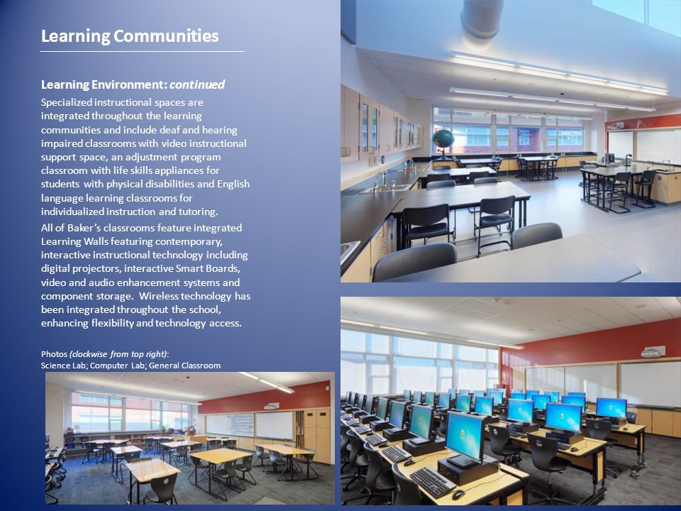 Learning Communities Learning Environment: continued