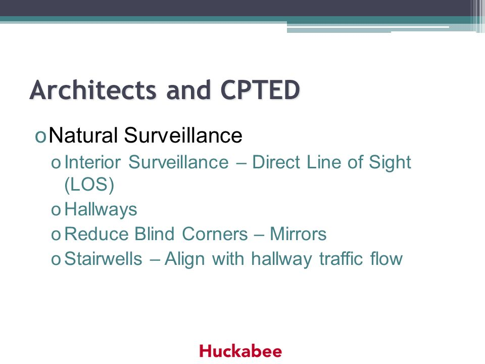 Architects and CPTED Natural Surveillance