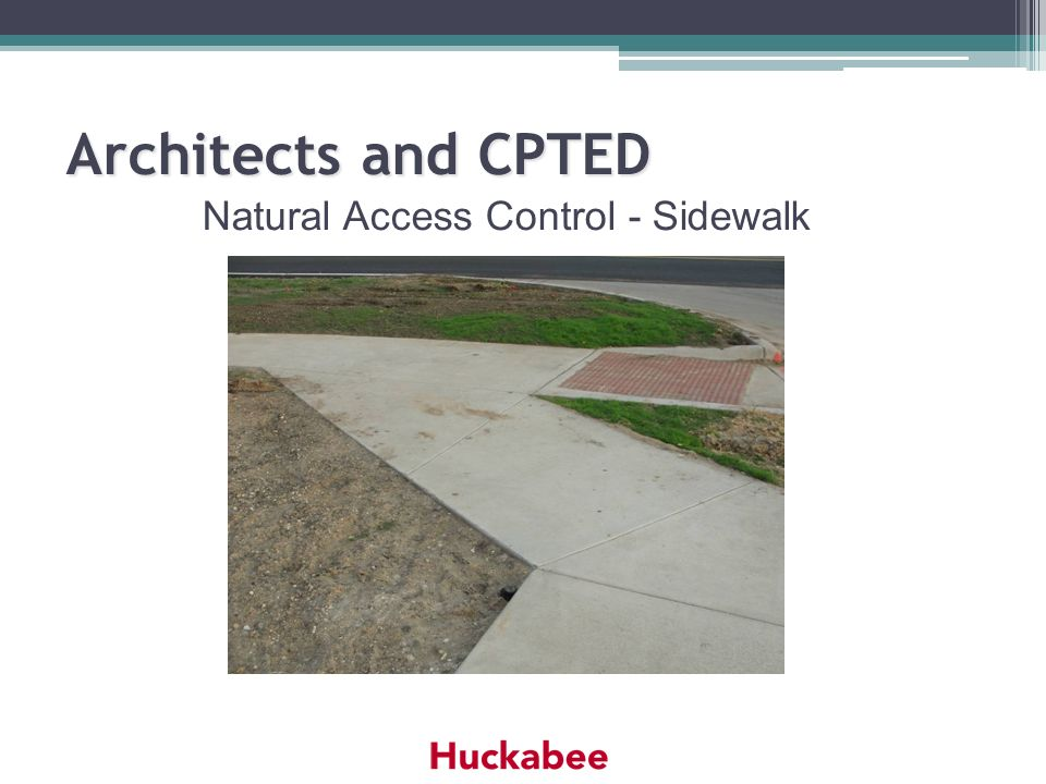 Natural Access Control - Sidewalk