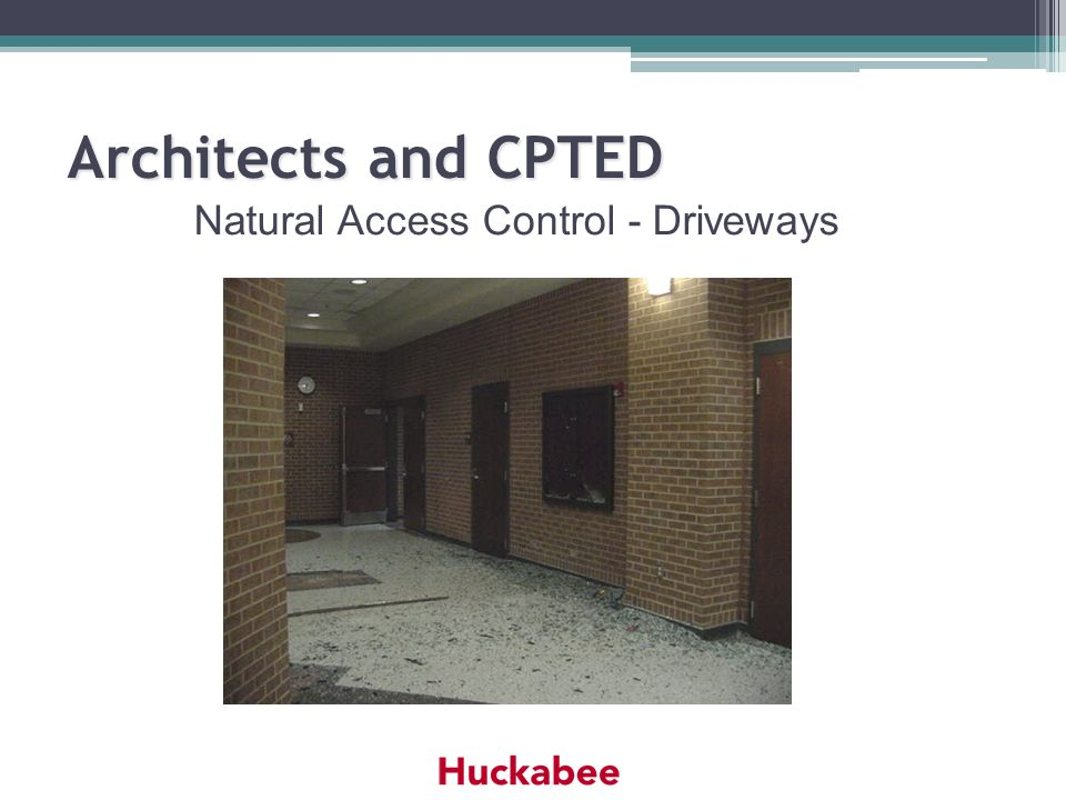 Natural Access Control - Driveways