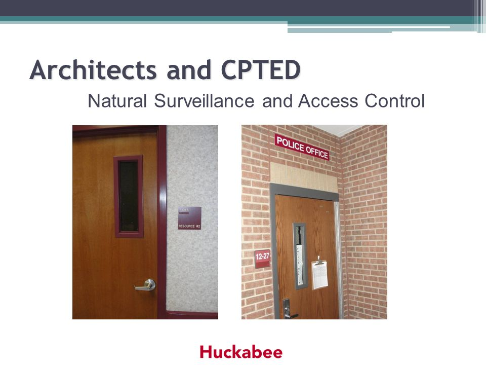 Natural Surveillance and Access Control