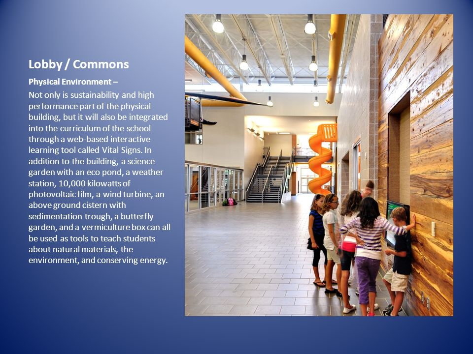 IMAGE Lobby / Commons Physical Environment –