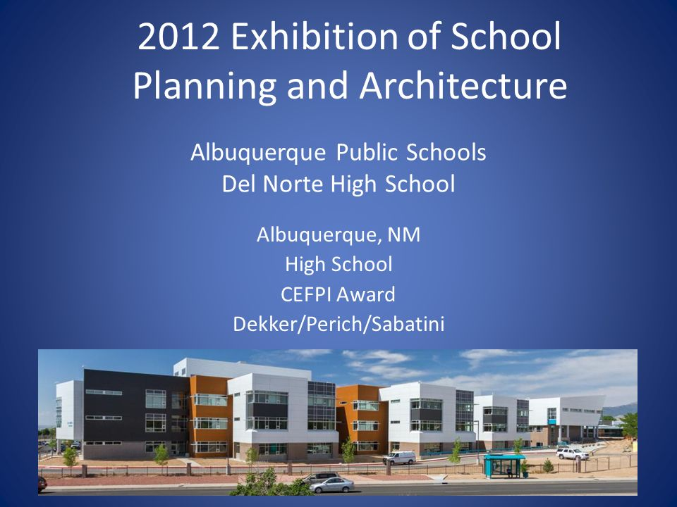 Albuquerque Public Schools Del Norte High School