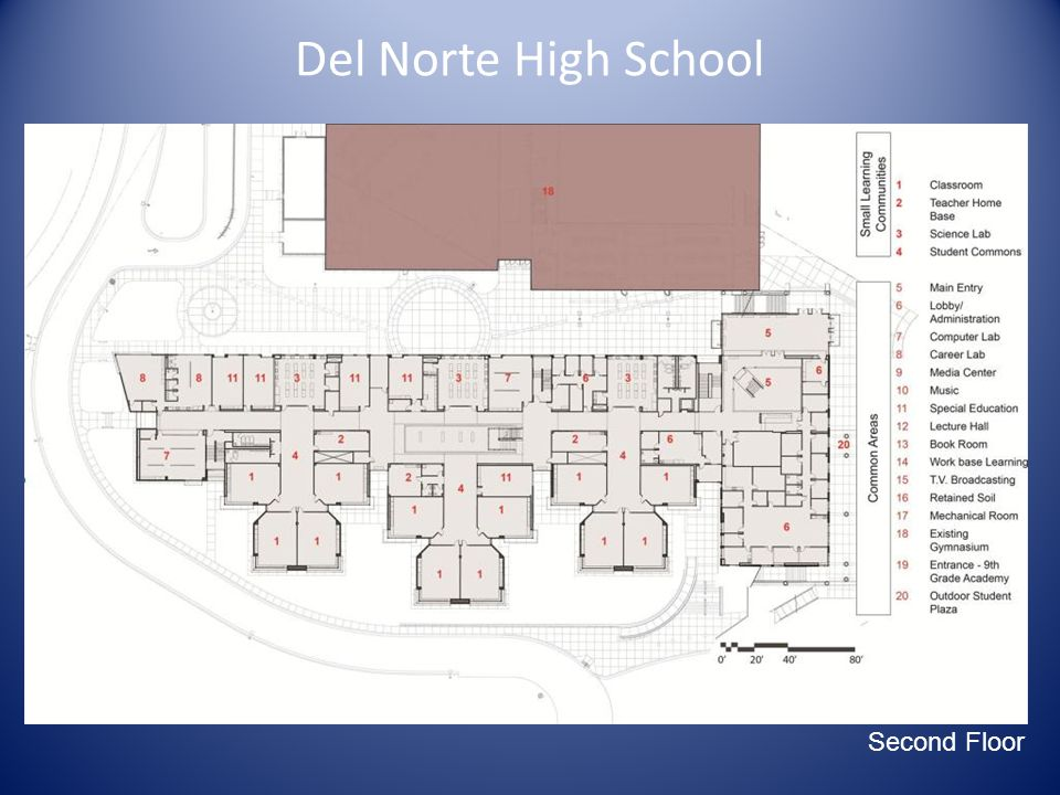 Del Norte High School Main Site Diagram Second Floor
