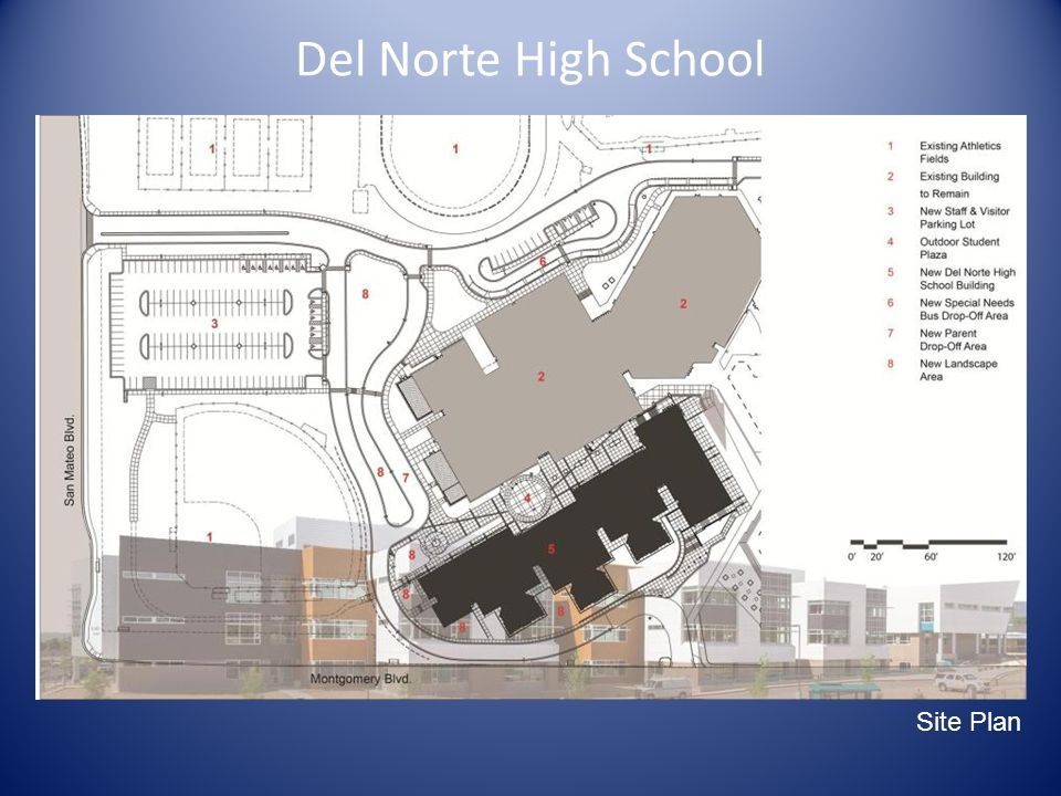 Del Norte High School Main Site Diagram Site Plan