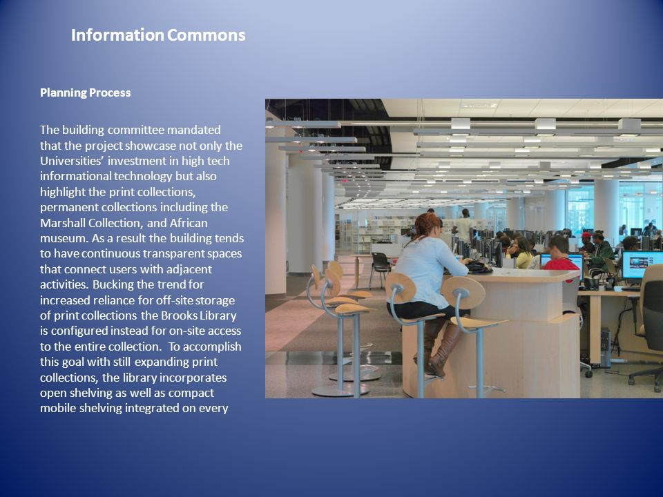 Information Commons Planning Process