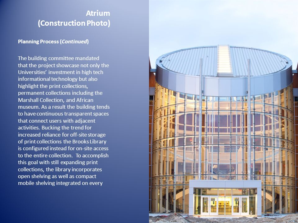 Atrium (Construction Photo)