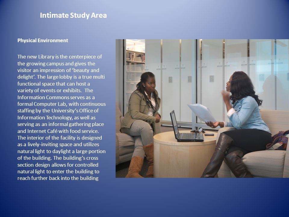 Intimate Study Area Physical Environment