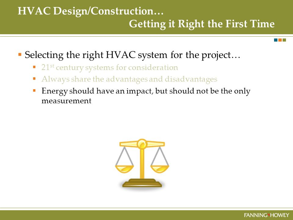 HVAC Design/Construction… Getting it Right the First Time