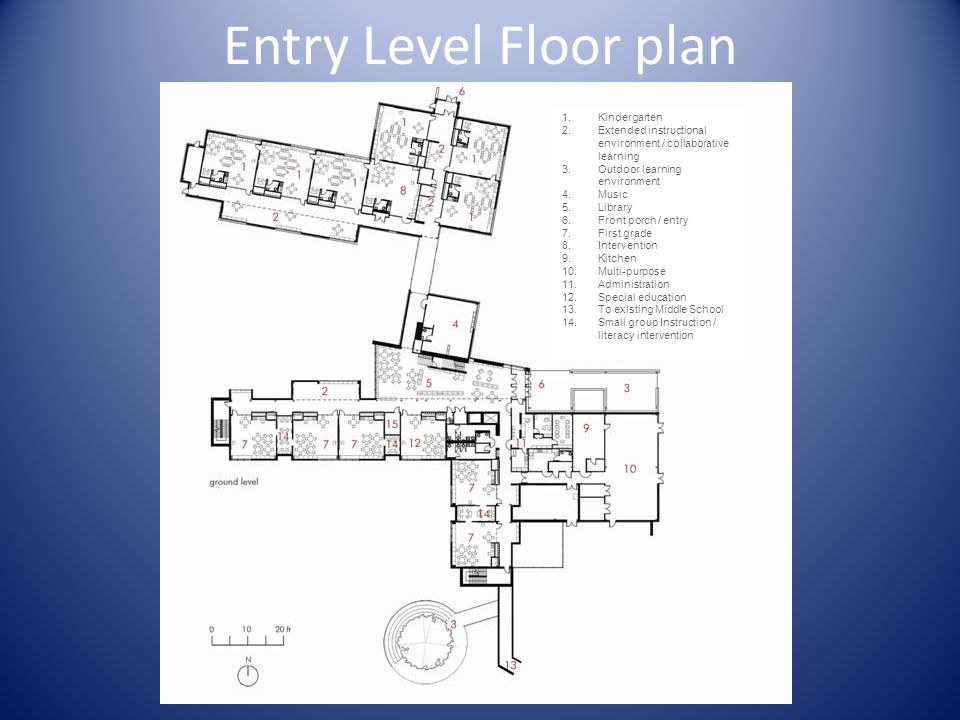 Entry Level Floor plan Kindergarten