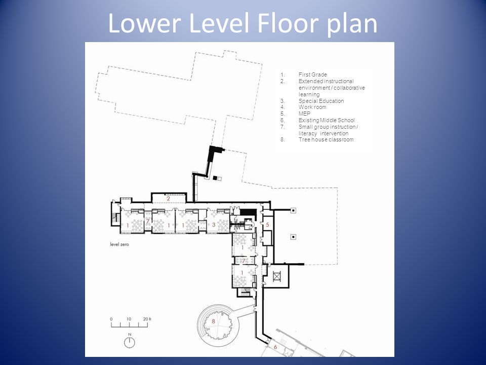 Lower Level Floor plan First Grade