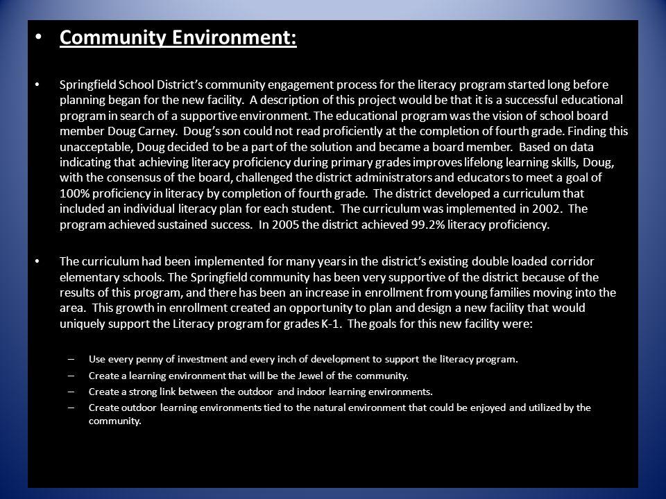 Community Environment: