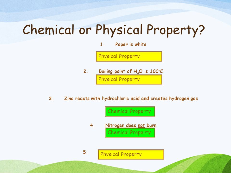 Is Paper Burning A Chemical Or Physical Property