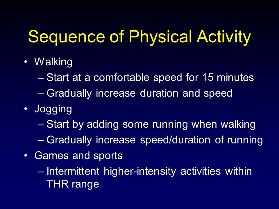 Physical Activity and Adults