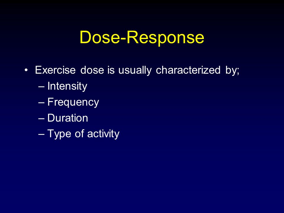 dose response relationship exercise health
