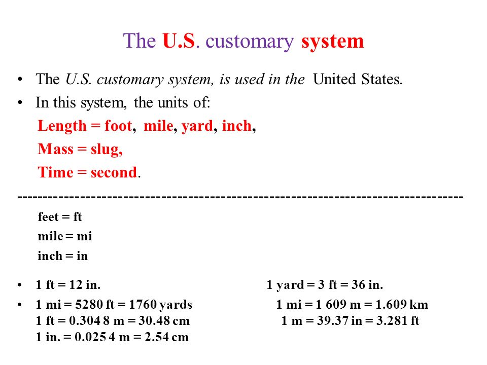 Imperial and US Customary Systems - Convert-me.com