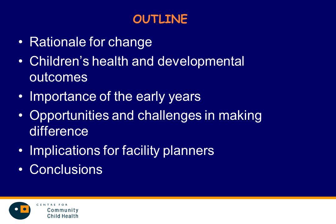 Children's health and developmental outcomes
