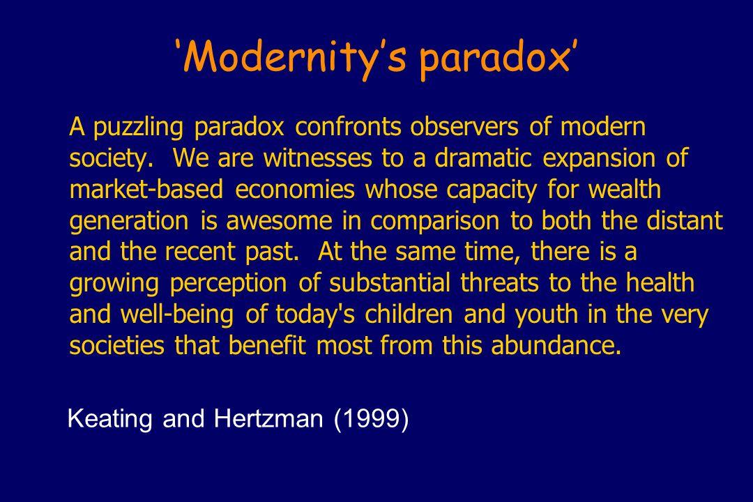 'Modernity's paradox'