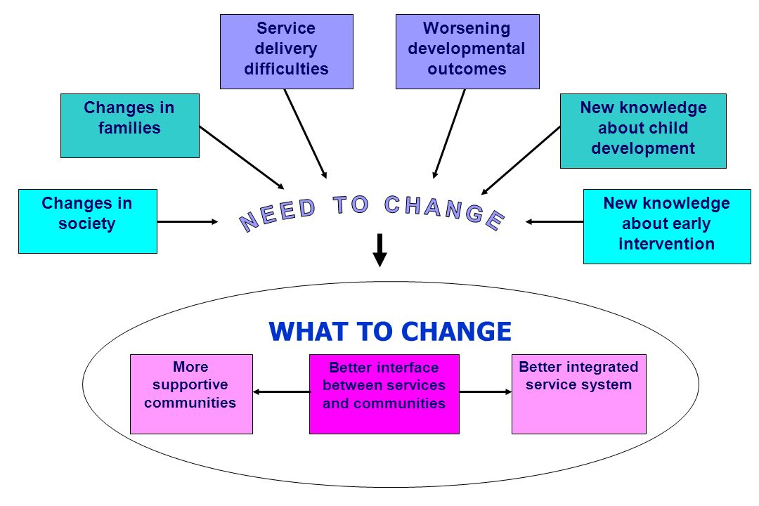 WHAT TO CHANGE NEED TO CHANGE Service delivery difficulties