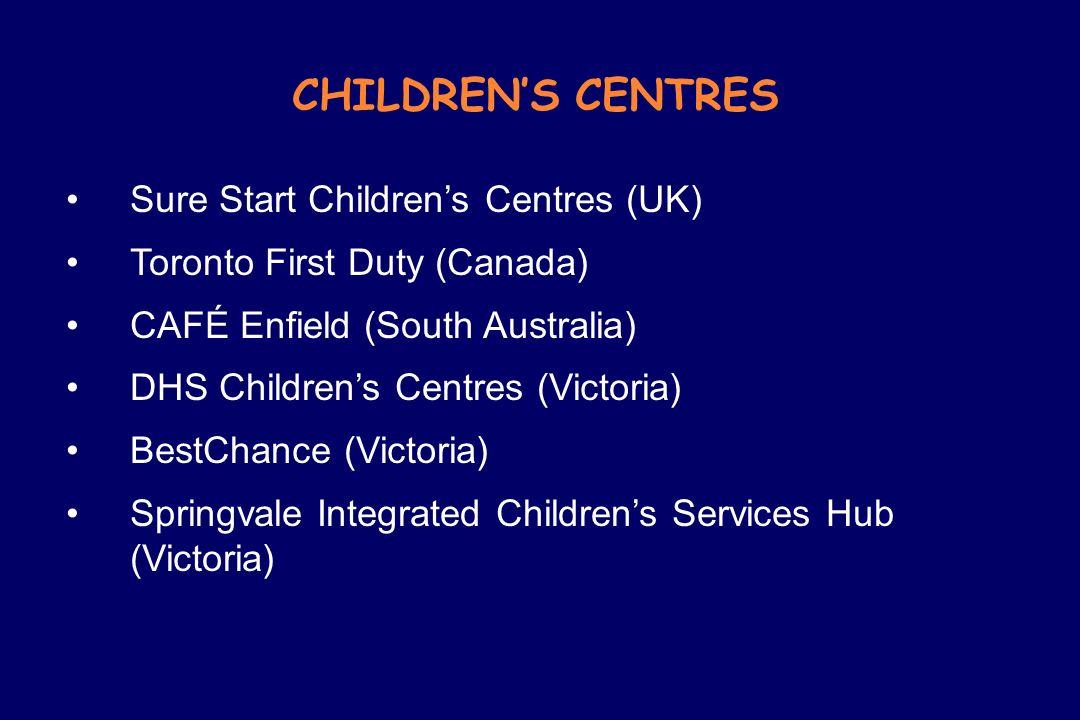 CHILDREN'S CENTRES Sure Start Children's Centres (UK)