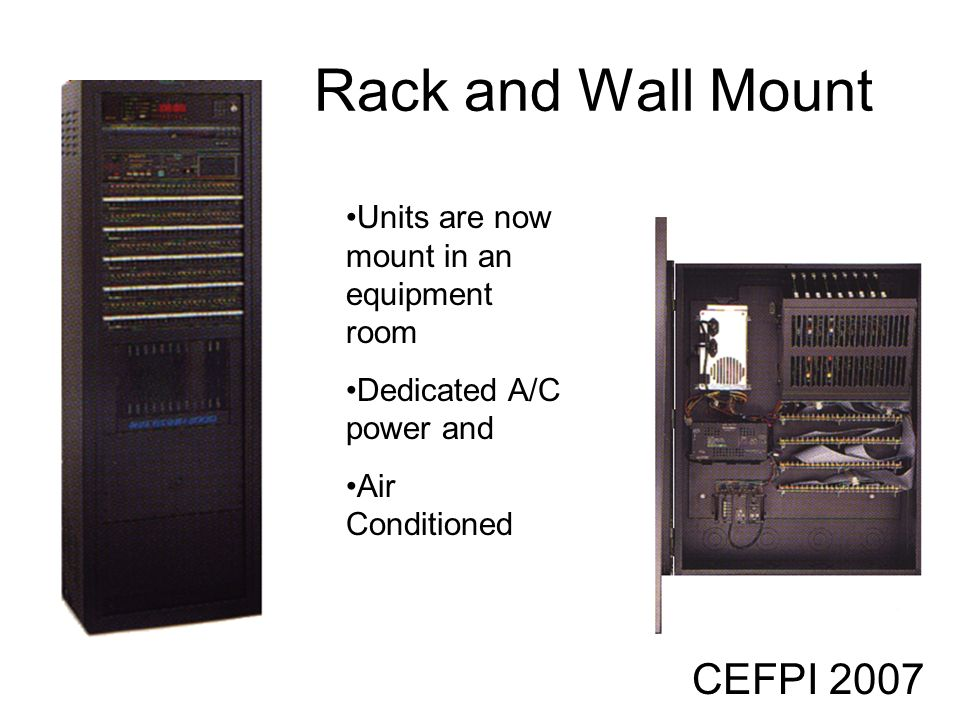 Rack and Wall Mount CEFPI 2007