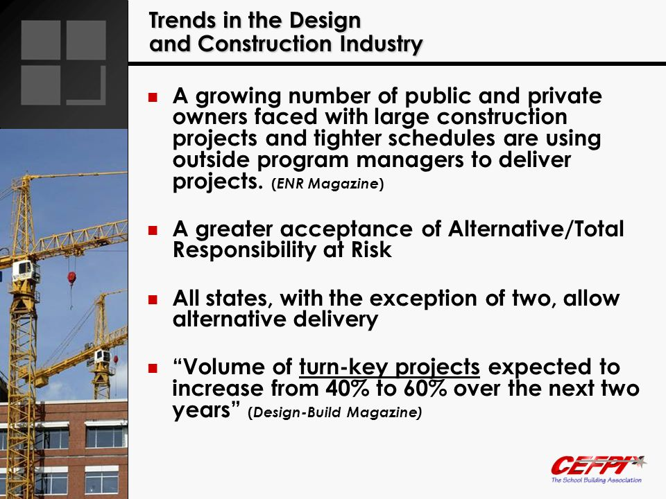 Trends in the Design and Construction Industry