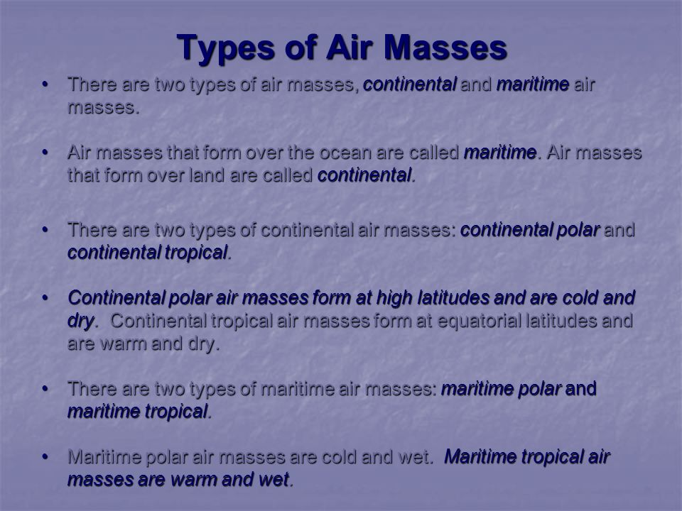 Air Masses, Fronts, Global Winds, and More by Mr - ppt video ...