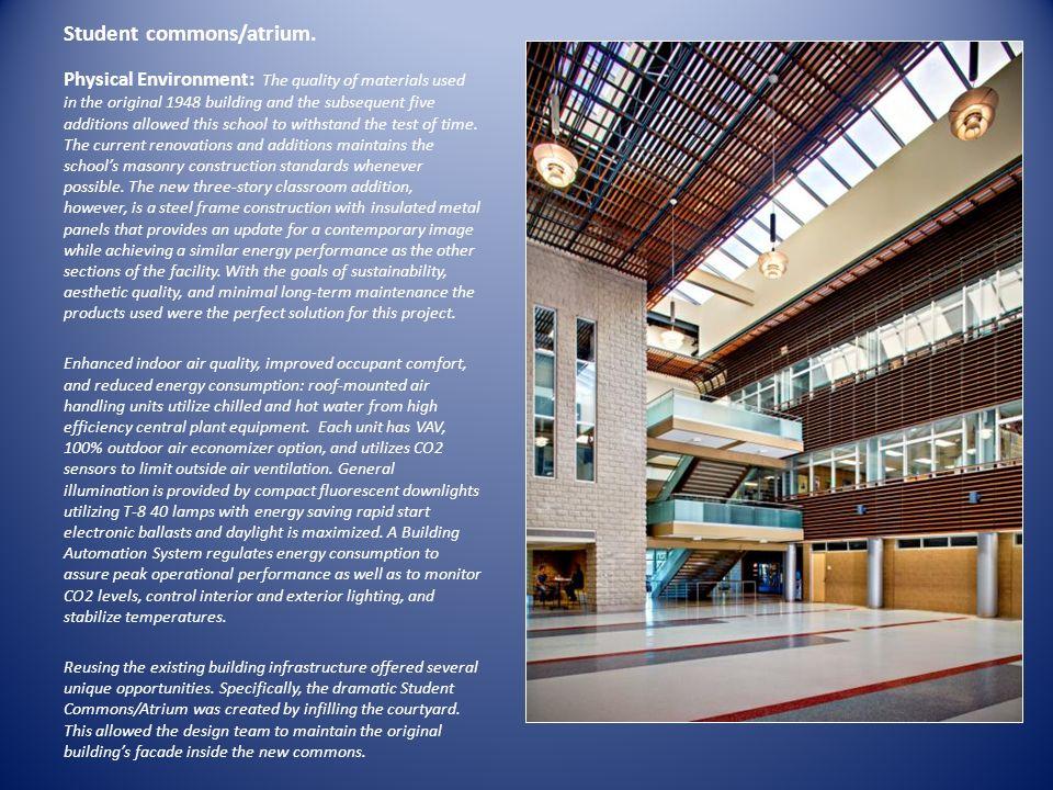 Student commons/atrium.