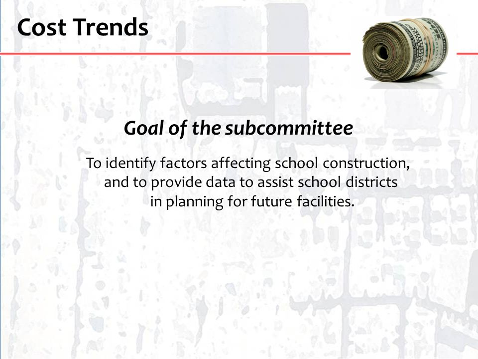 Goal of the subcommittee