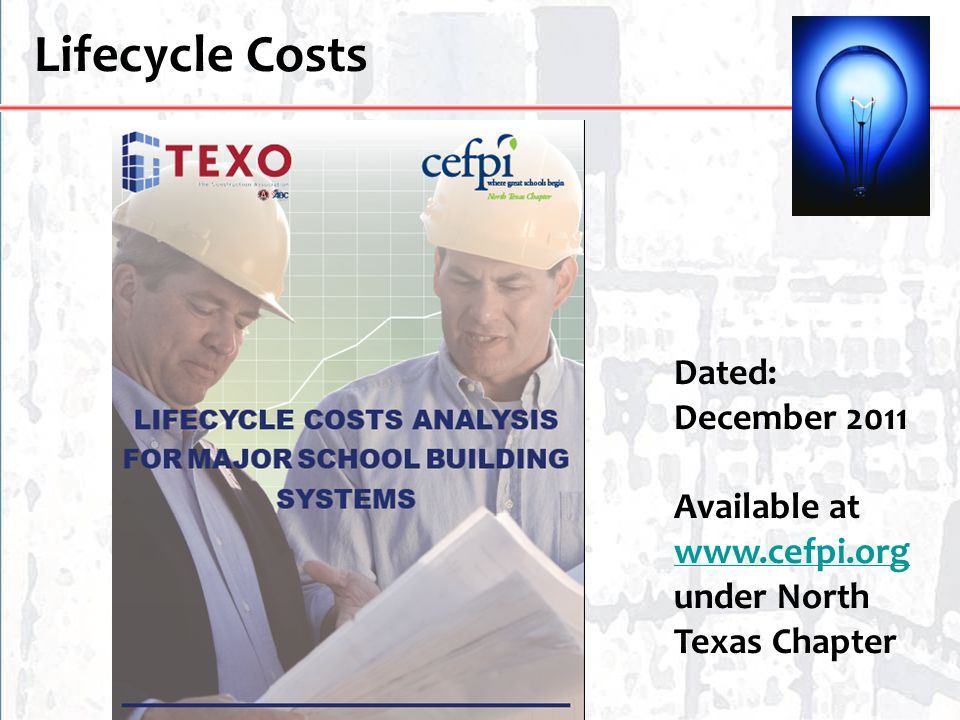 Lifecycle Costs Dated: December 2011 Available at