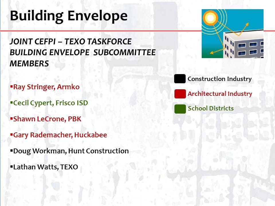 Building Envelope JOINT CEFPI – TEXO TASKFORCE