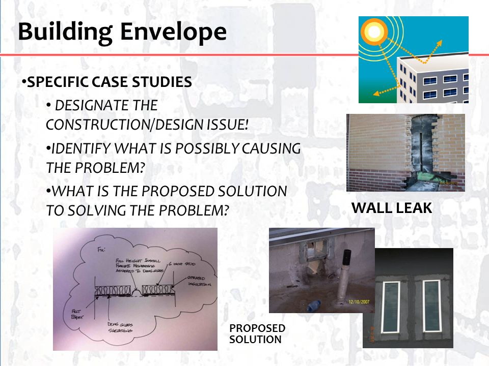 Building Envelope SPECIFIC CASE STUDIES
