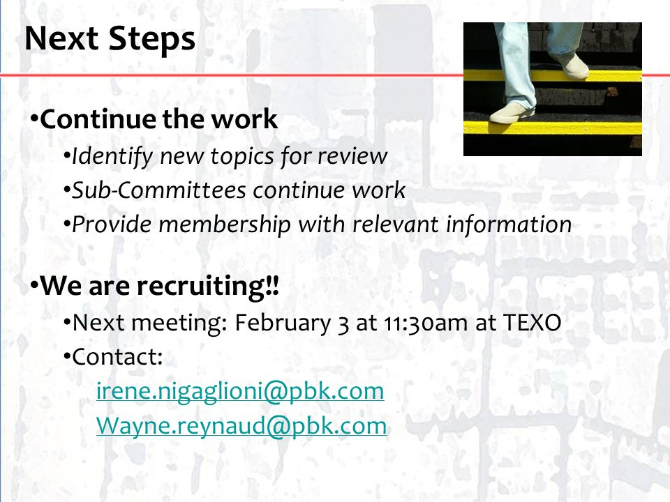 Next Steps Continue the work We are recruiting!!