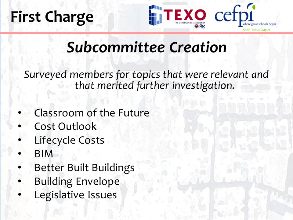 Subcommittee Creation