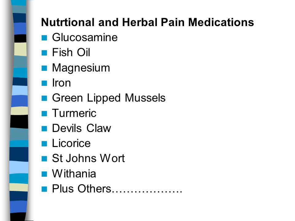 Nutrtional and Herbal Pain Medications
