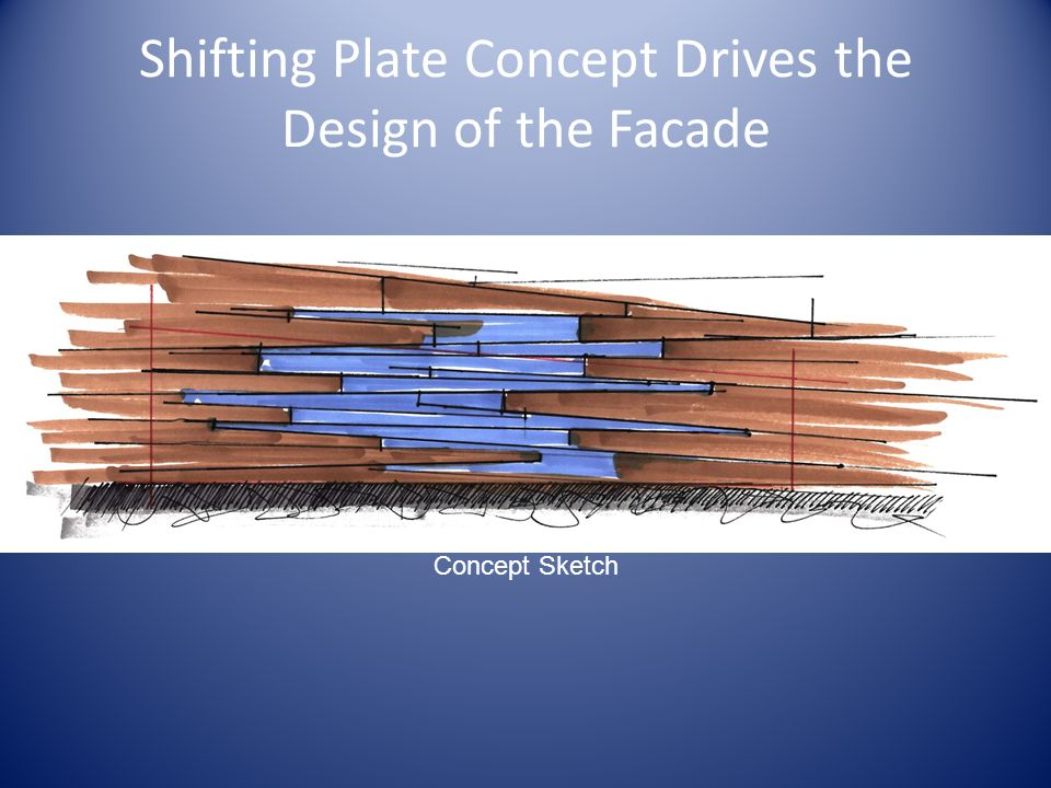 Shifting Plate Concept Drives the Design of the Facade