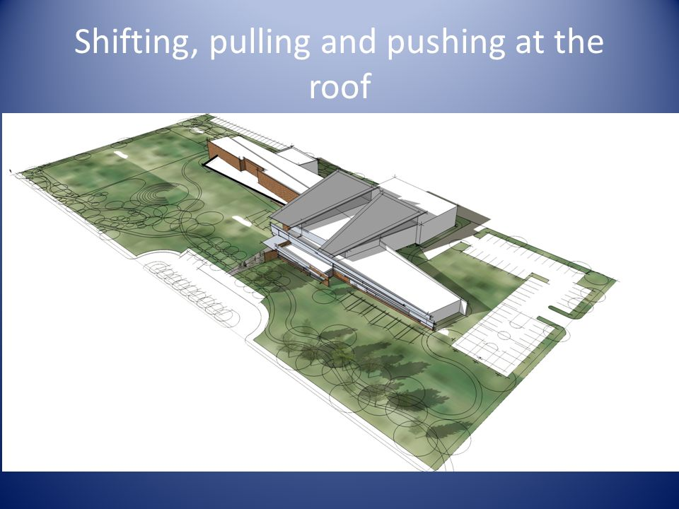 Shifting, pulling and pushing at the roof