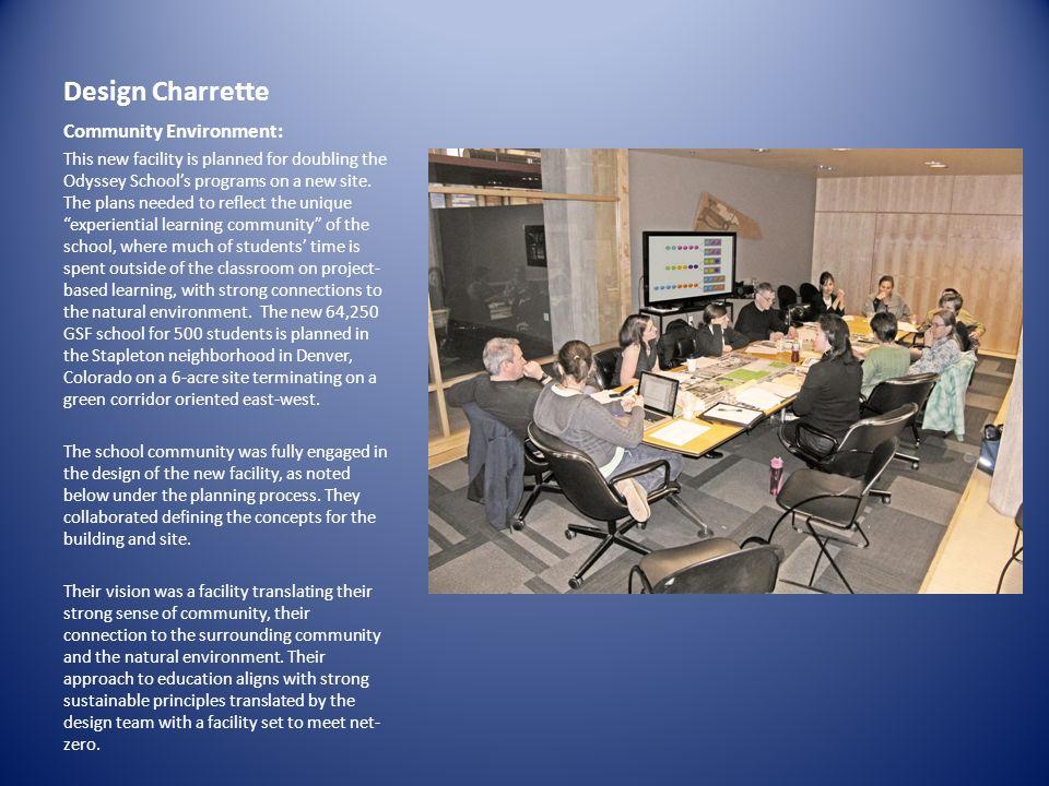 Design Charrette Community Environment: