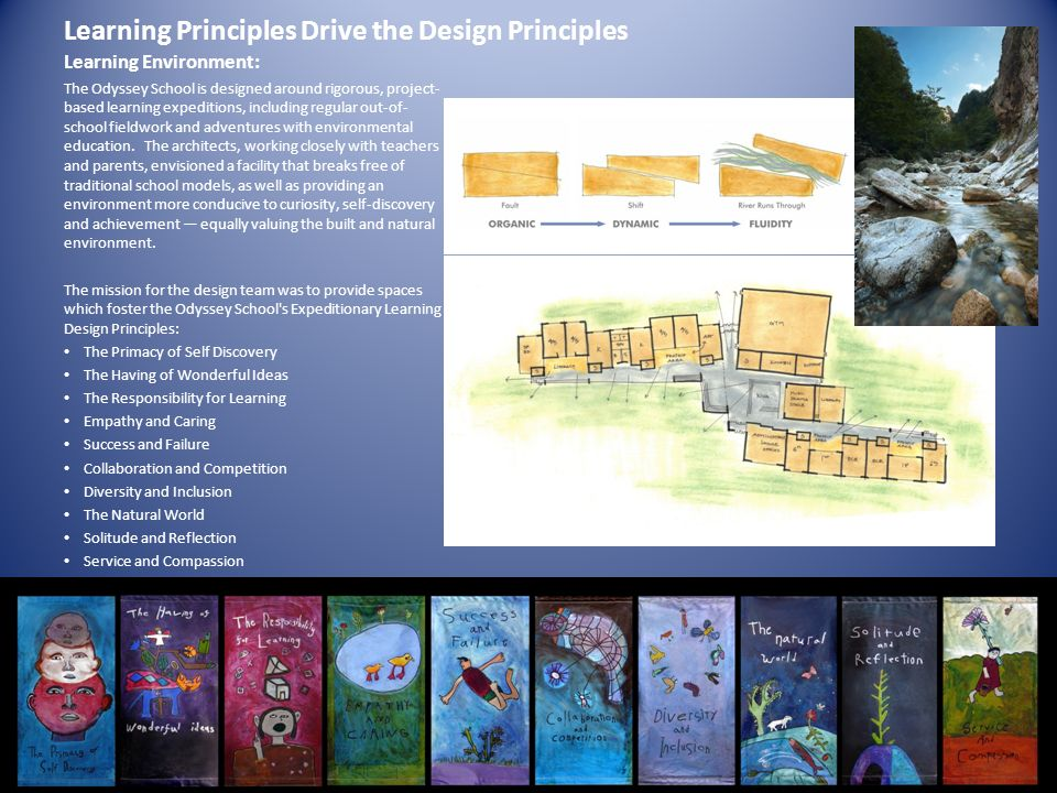 Learning Principles Drive the Design Principles