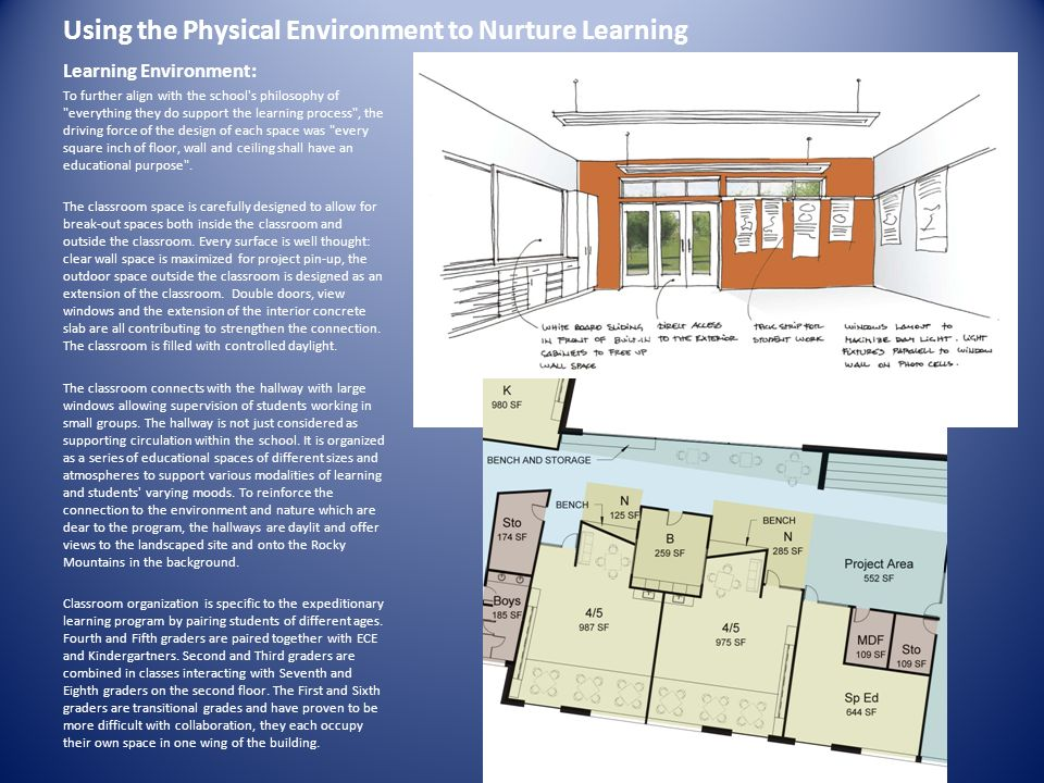Using the Physical Environment to Nurture Learning
