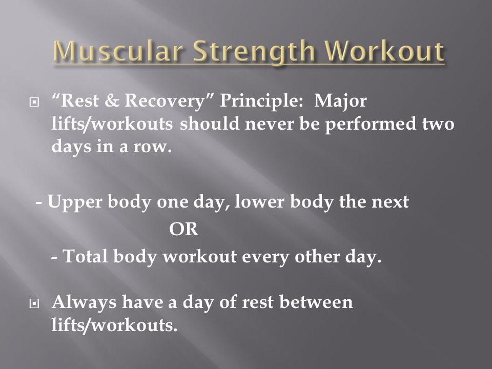 Muscular Strength Workout