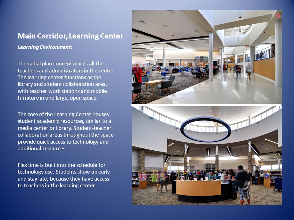 Main Corridor, Learning Center