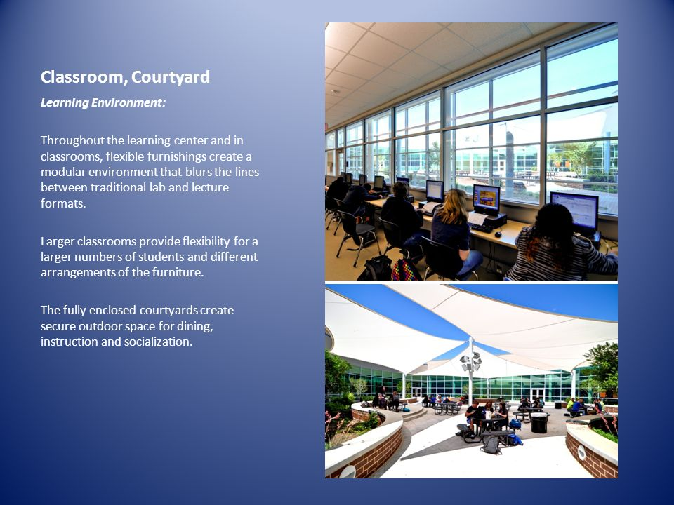 Classroom, Courtyard Learning Environment:
