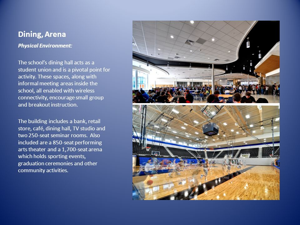 Dining, Arena Physical Environment: